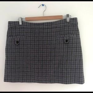 Jacobs plaid purple grey skirt